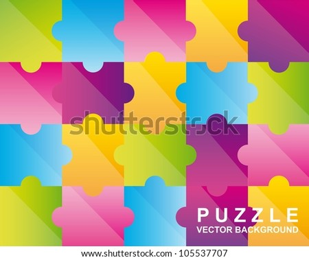 colorful puzzles background. vector illustration