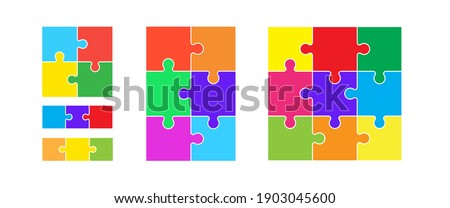 colorful puzzles grid jigsaw
