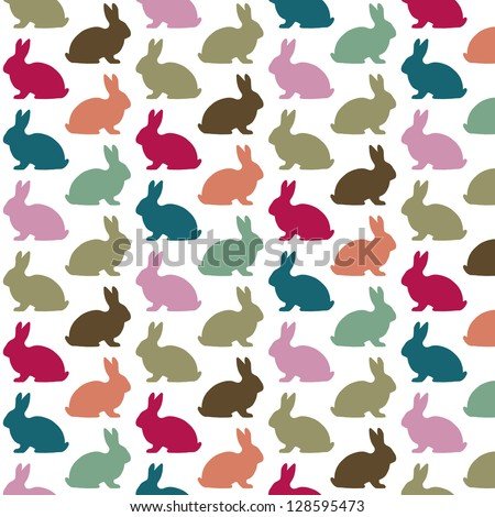 Colorful rabbit pattern