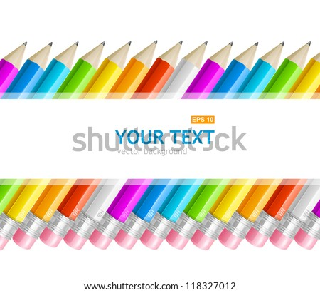 Colorful rainbow pencil banner