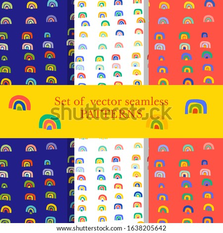colorful rainbow shapes and