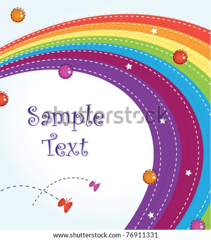 Colorful rainbow template design