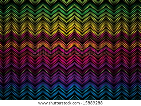 Colorful rainbow zig zag effect ideal as a desktop or background