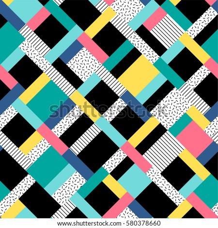 Colorful rectangles seamless pattern background