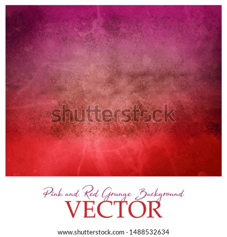 Colorful red and pink background vector with vintage distressed grunge texture, rock or sto patter design
