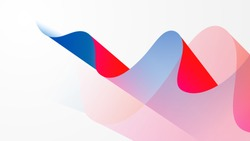 Colorful red blue white motion wave abstract vector background