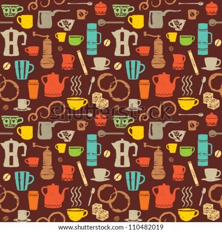 Colorful Retro Coffee Icons