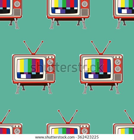 colorful retro tv seamless
