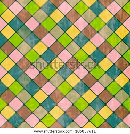 Colorful Rhombus. Seamless pattern,background vector illustration