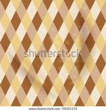 Colorful Rhombus. Seamless pattern, vector background illustration