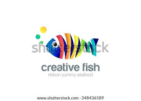 colorful ribbon fish abstract
