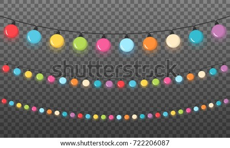 colorful round christmas lights dark background vector eps10 illustration