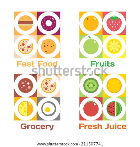 colorful round fruits