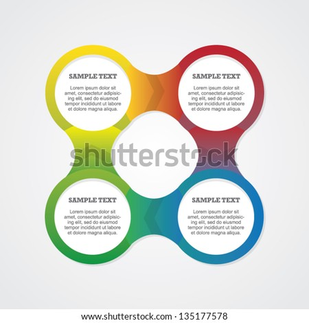 colorful round step by step