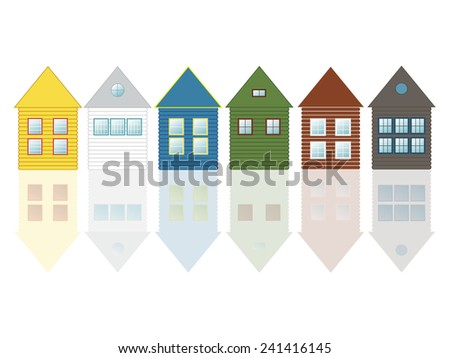 colorful scandinavian houses
