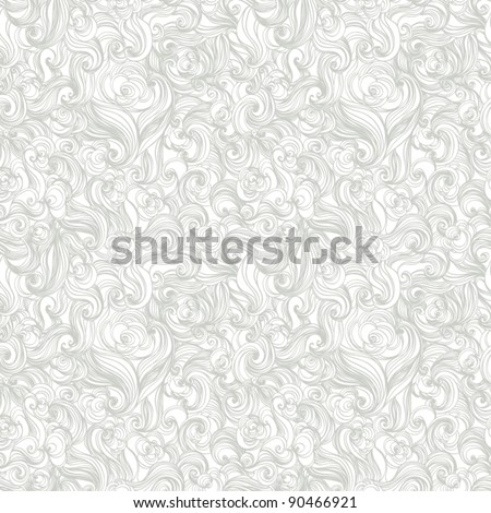 colorful seamless abstract hand-drawn pattern, waves background  vintage