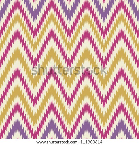 Colorful seamless chevron background pattern - stock vector