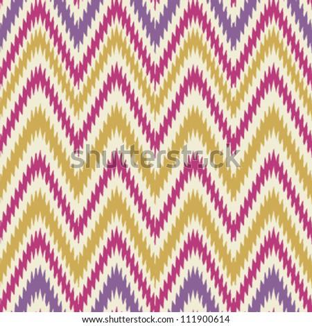 Colorful seamless chevron background pattern