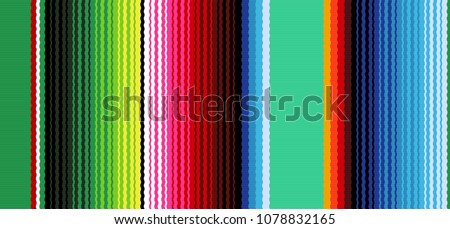 colorful seamless mexican style