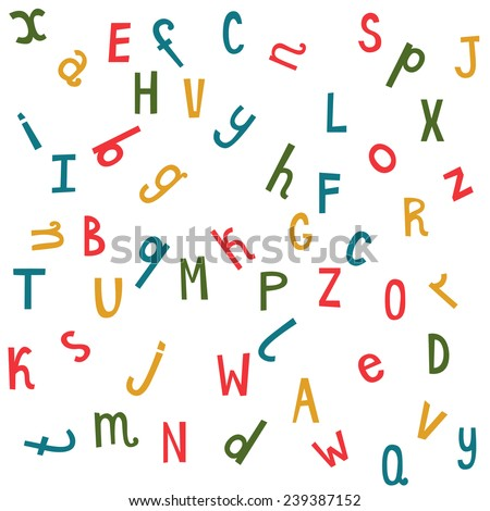 stock-vector-colorful-seamless-pattern-with-randomly-distributed-english-letters-vector-funny-background