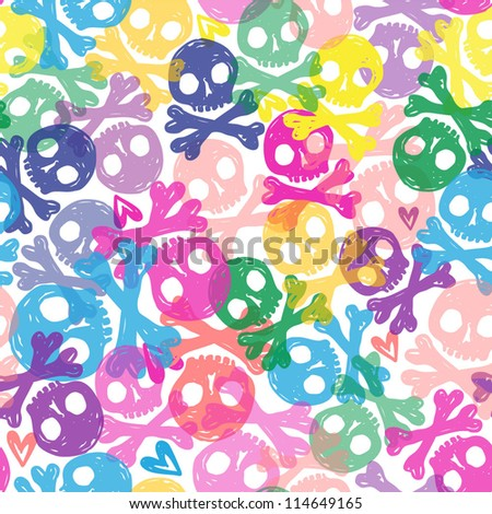 colorful seamless scull background