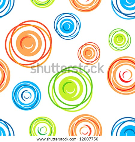 stock vector : Colorful seamless tangles pattern on white background
