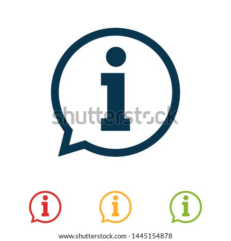 colorful set information sign icon vector illustration