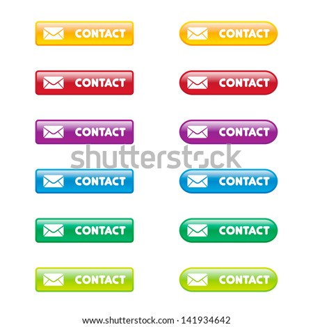 Colorful Set of Contact Buttons