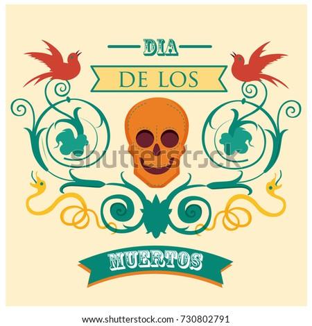 Free vector dia de los muertos sugar skull pattern download free colorful set of mexican dia de los muertos day of the dead and halloween stopboris Images