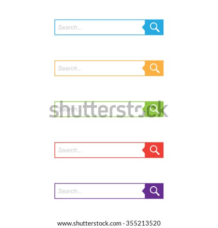 Colorful Set of Search Bars