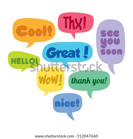 Colorful Set of Vector Speech Bubbles