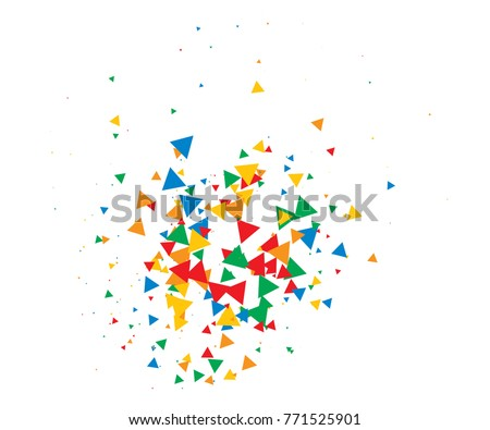 colorful shatter vector