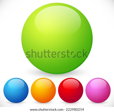 colorful  shiny spheres