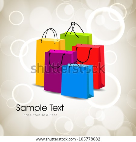 Colorful shopping bags. EPS 10.