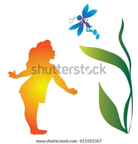 colorful silhouette  a bright