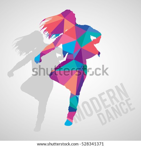 colorful silhouette of