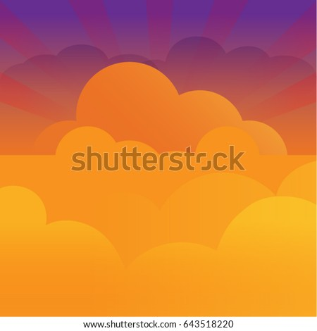 colorful sky with rays of