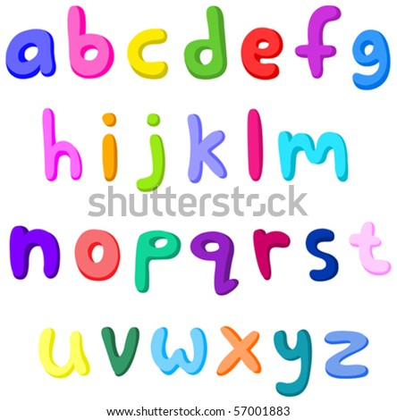 Colorful small letters set