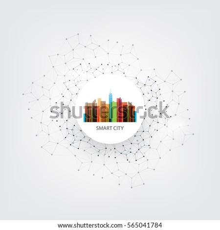 colorful smart city design