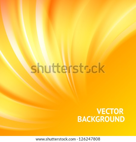 Colorful smooth light lines background. Vector illustration, eps 10, contains transparencies. - stock vector