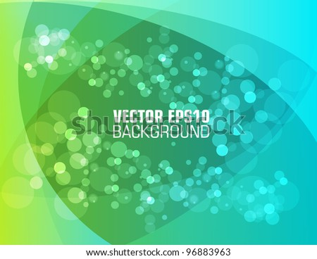 Colorful smooth twist light lines and bokeh vector background