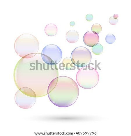 Colorful soap bubbles for your design.