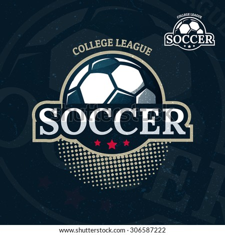 colorful soccer sport logo