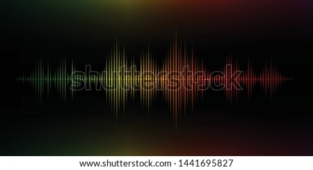Colorful sound wave. Vector illustration.