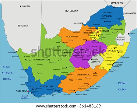 South africa vector map download free vector art stock graphics colorful south africa political map with clearly labeled separated layers vector illustration gumiabroncs Images