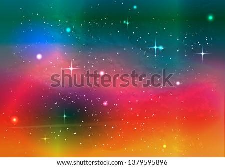 colorful space galaxy nebula