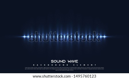 Colorful Spectrum Sounds. Cool Sound Frequency with Light Rays. Vibrant Gradient Light with Wave Equalizer Design. Vector illustration eps 10.