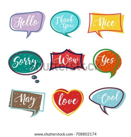 Colorful Speech Bubble vector design