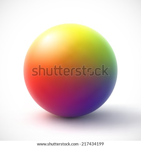 colorful sphere on white