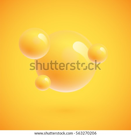 colorful spheres floating